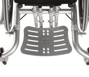 In hoek verstelbare voetsteun Bravo Racer rolstoel
